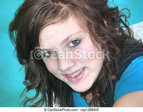 Very Cute Teen Girl - csp1288405