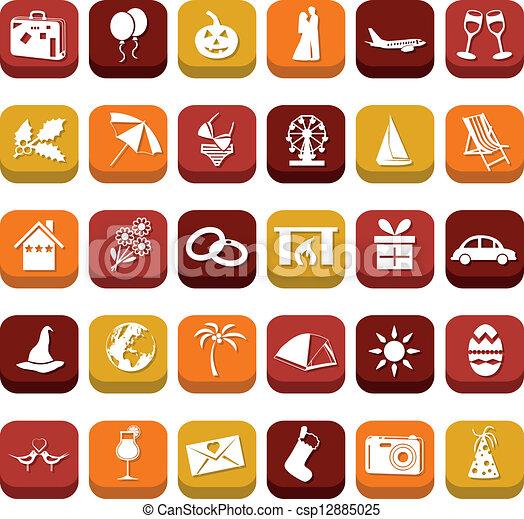 holiday icons - csp12885025