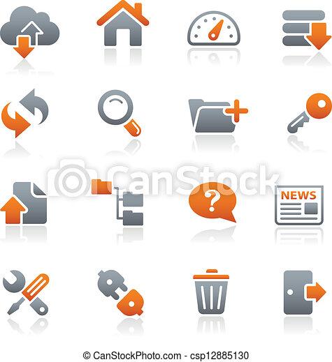FTP & Hosting Icons // Graphite - csp12885130