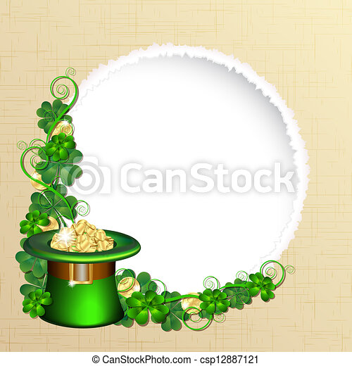 Patrick day background - csp12887121