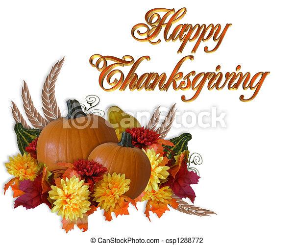 Thanksgiving Autumn Fall Background - csp1288772