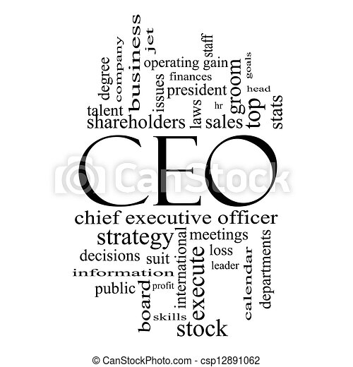 stock illustration of ceo word cloud concept in black and Lead Clip Art Black and White Clip Art Black and White Decision