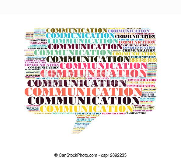 作曲された, コラージュ, テキスト, callout, 形, コミュニケーション - csp12892235