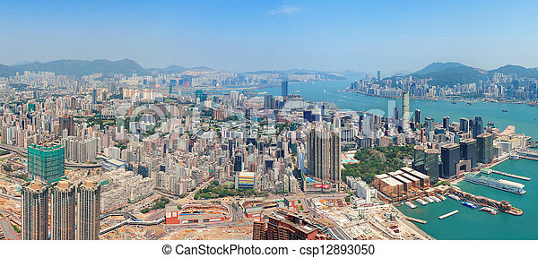 Hong Kong aerial view - csp12893050