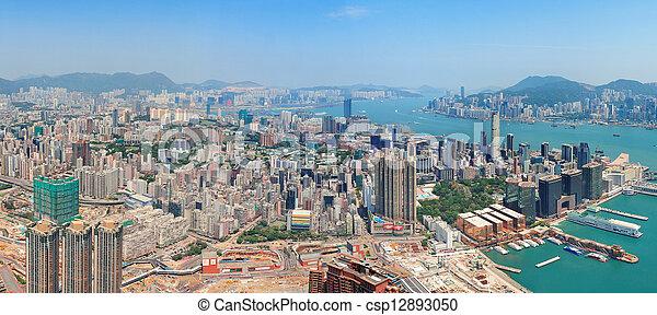 Hong Kong aerial view - csp12893050