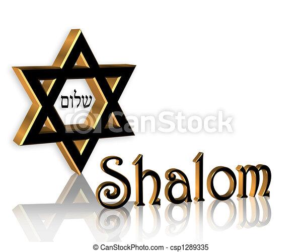 Hanukkah Shalom Jewish Background - csp1289335