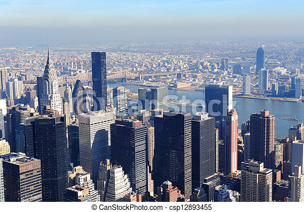 New York City skyscrapers - csp12893455