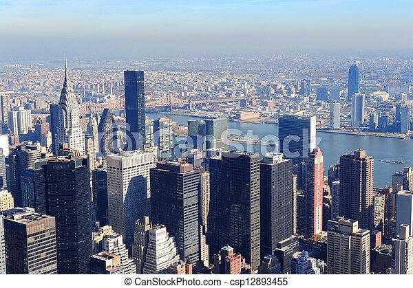 New York City skyscrapers - csp12893455