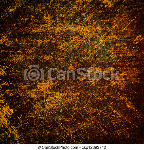 Highly detailed brown grunge background or paper with vintage texture - csp12893742