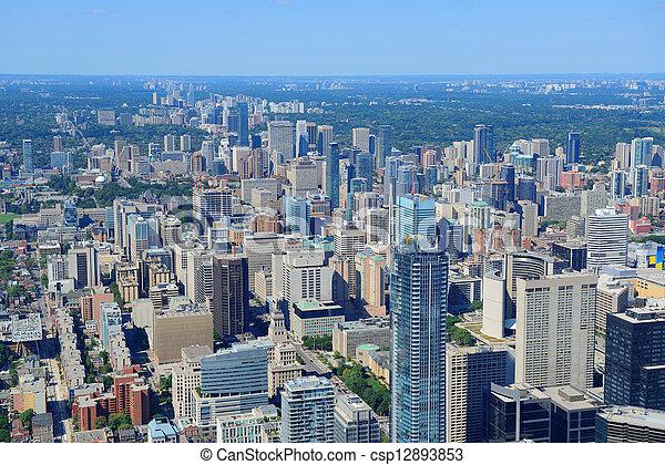Toronto aerial - csp12893853