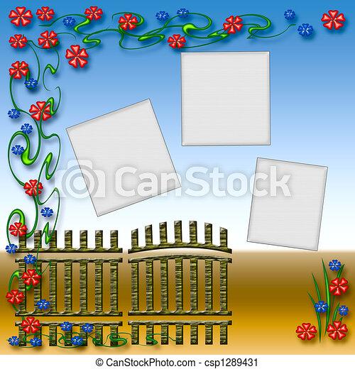 Garden gate Clipart and Stock Illustrations. 1,205 Garden gate ...