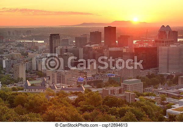 Montreal sunrise - csp12894613