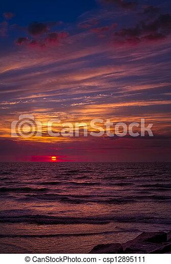 Galveston Sunrise - csp12895111