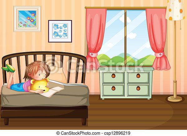 A 子供 勉強 中 彼女 部屋 イラスト の A 子供 勉強 中 彼女 部屋
