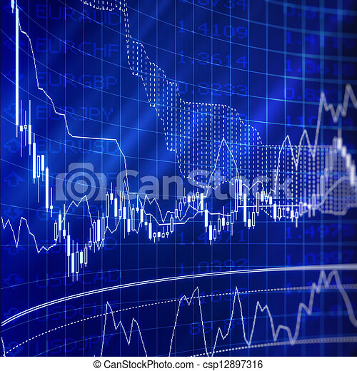 forex chart for currency trading - csp12897316