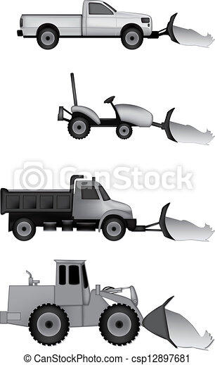Vector of snow plow icons csp12897681 - Search Clip Art ...