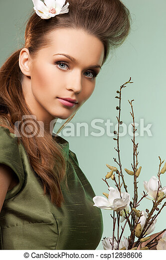 beautiful woman - csp12898606