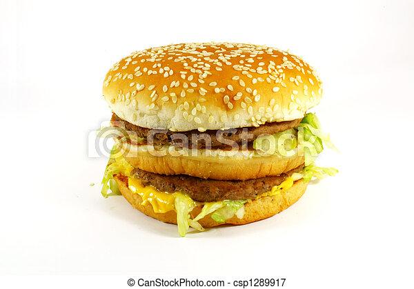 Fast Food Hamburger Meal - csp1289917