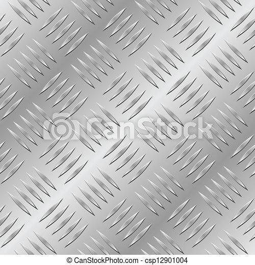 Diamond metal plate seamless vector pattern.  - csp12901004