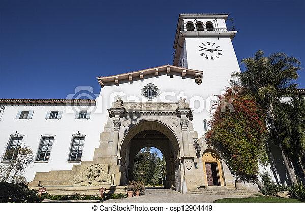 Historic Santa Barbara California County Courthouse - csp12904449