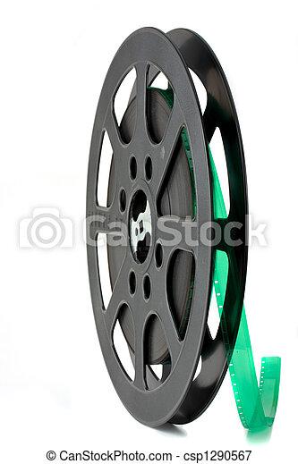 black 16 mm film reel iso - csp1290567