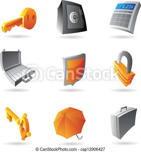 Icons for banking - csp12906427