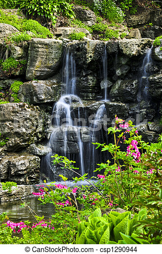 Cascading waterfall - csp1290944