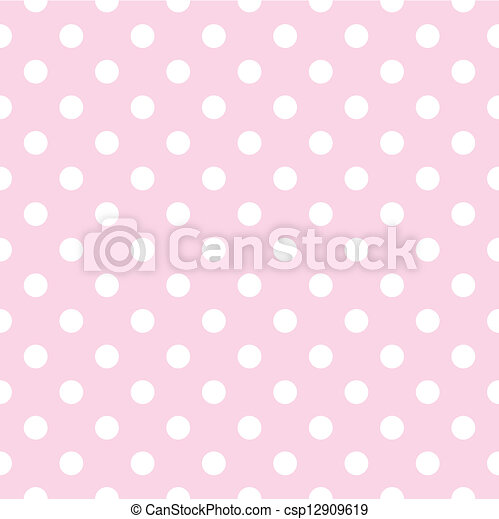 Seamless vector dots pink pattern - csp12909619