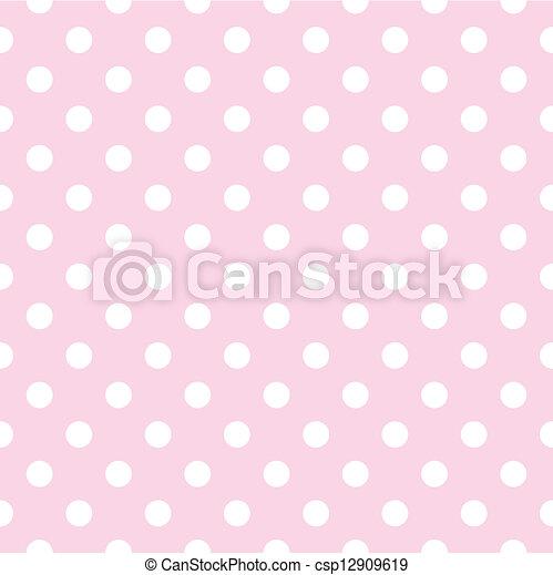 Seamless vector dots pink pattern - csp12909619