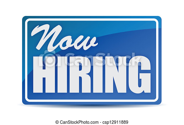 Now Hiring retail store window style sign - csp12911889