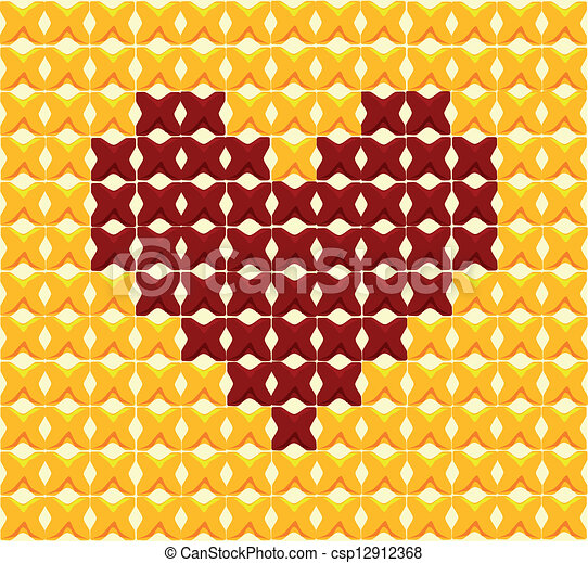 Cross Stitch Drawings Cross Stitch Heart a Red