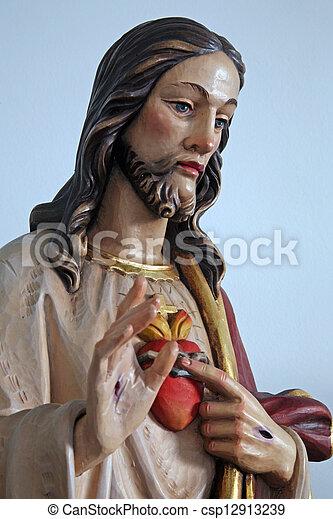 心, 神聖, イエス・キリスト - csp12913239