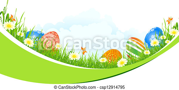 Beautiful Easter Holiday Background - csp12914795