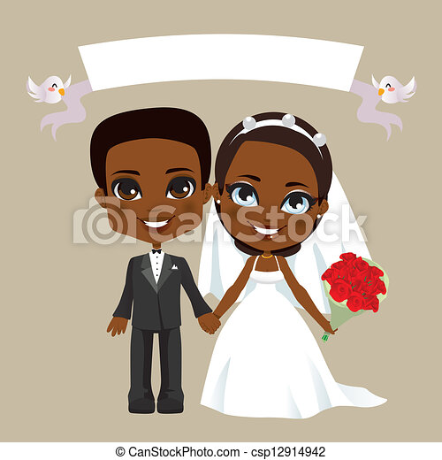Black Couples Drawings Black Couple Wedding