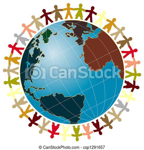 Peaceful World Drawings World Peace Globe