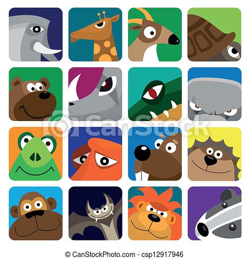 Wildlife animals set icon - csp12917946