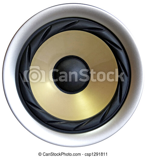 Clipart of Loud speaker - Closeup of bass speaker ...