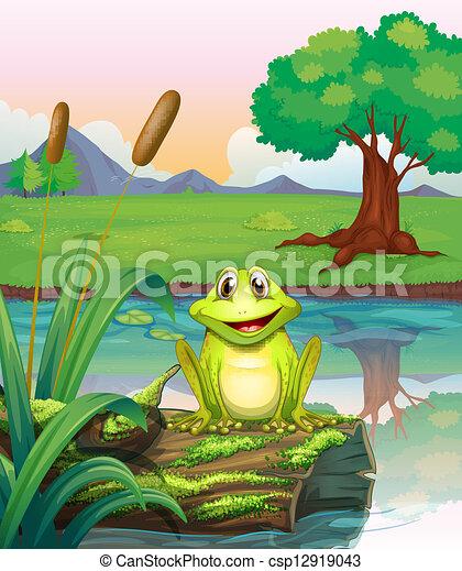 A frog at the lake - csp12919043
