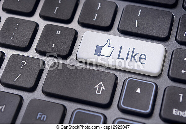 facebook like concepts, with enter key on keyboard