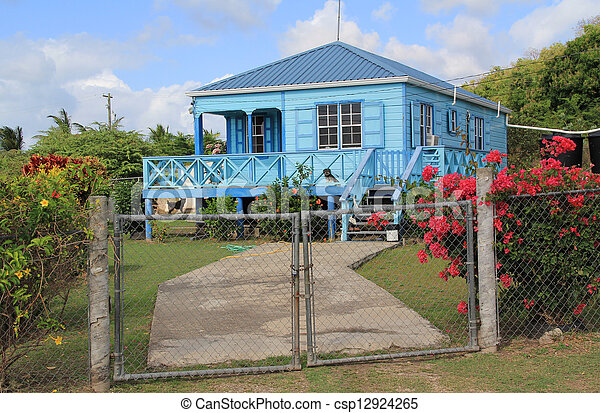 Typical Nice Home in Antigua Barbud - csp12924265
