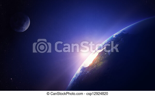 Earth sunrise North America - csp12924820
