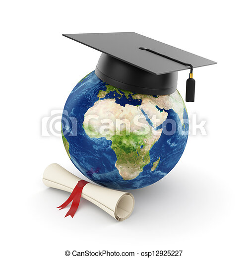 Earth planet with graduation - csp12925227