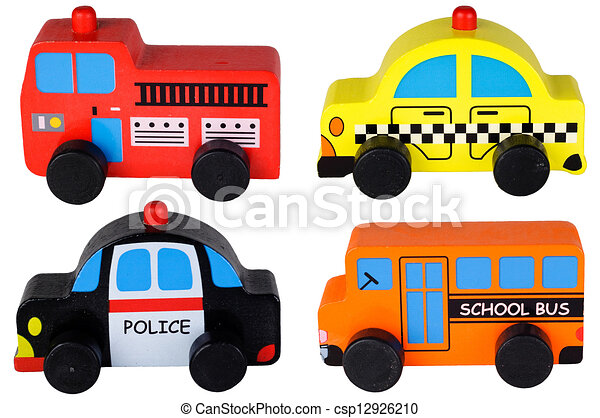 Clipart of Set of four wooden toy cars - set of four wooden toy cars ...