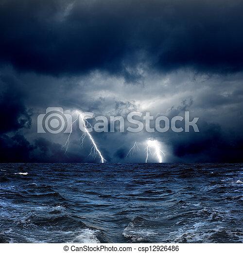 Stormy sea - csp12926486