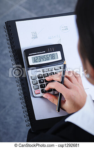 businesswoman, to write, to calculate