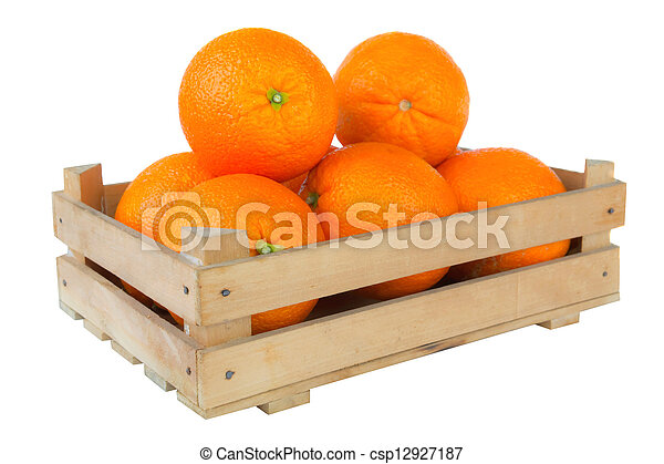 Fresh and ripe orange fruits - csp12927187