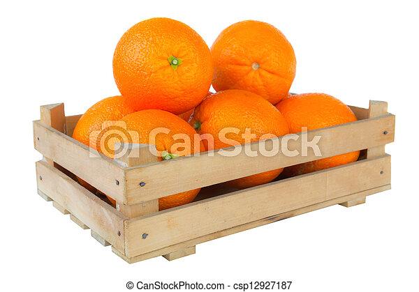Fresh and ripe orange fruits - csp12927187