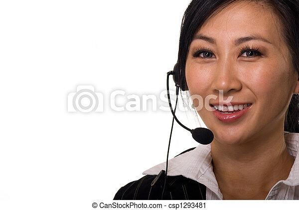 Telephone operator receptionist secretary - csp1293481