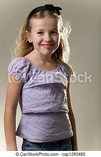 ... eight year old - cute blonde little eight year old girl in... ...