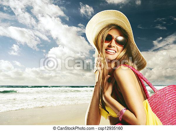 Happy summer holiday - csp12935160